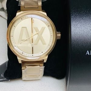 Armani Exchange ATLC Gold Tone Steel Watch Ax1363